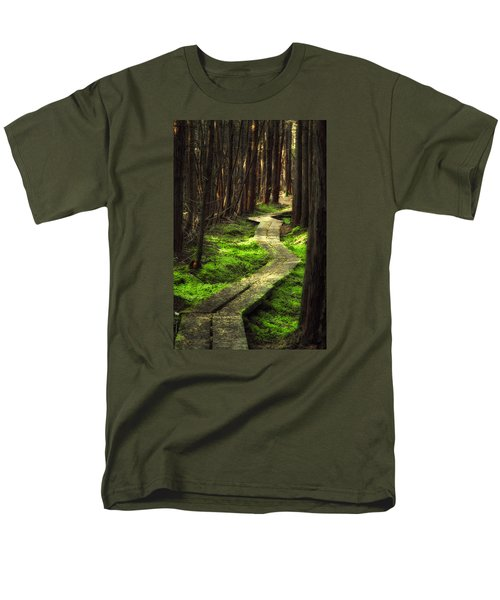 Men's T-Shirt  (Regular Fit) featuring the photograph A Walk Through The Bog by Robert Clifford