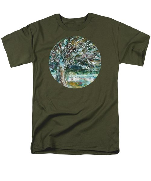 A Winter Tree Men's T-Shirt  (Regular Fit) by Mary Wolf