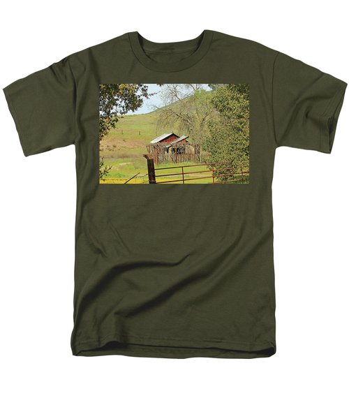 Men's T-Shirt  (Regular Fit) featuring the photograph Abandoned Homestead by Art Block Collections