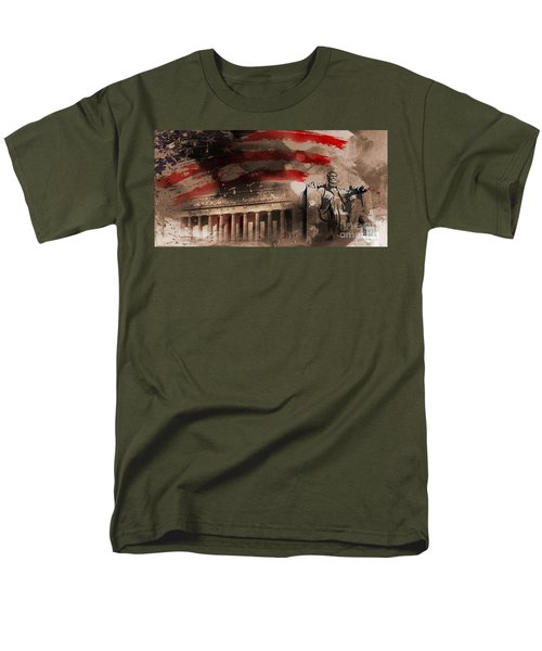 Men's T-Shirt  (Regular Fit) featuring the painting Abraham Lincoln by Gull G