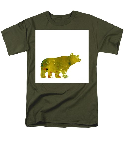 Abstract Acrylic Painting Bear II Men's T-Shirt  (Regular Fit) by Saribelle Rodriguez