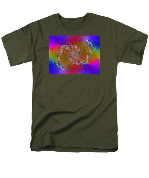 Men's T-Shirt  (Regular Fit) featuring the digital art Abstract Cubed 351 by Tim Allen