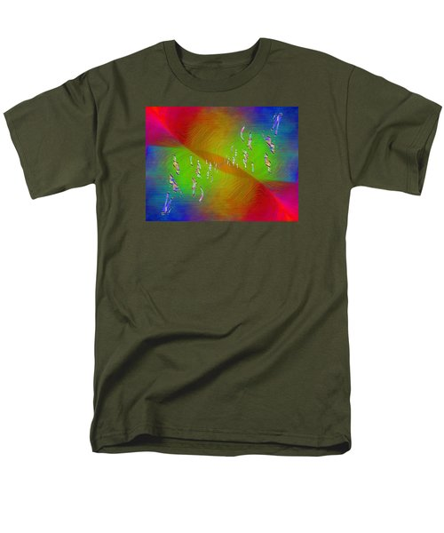Men's T-Shirt  (Regular Fit) featuring the digital art Abstract Cubed 355 by Tim Allen