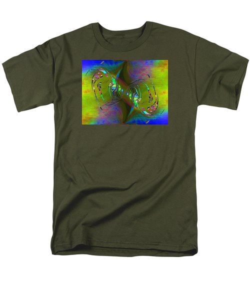 Men's T-Shirt  (Regular Fit) featuring the digital art Abstract Cubed 361 by Tim Allen