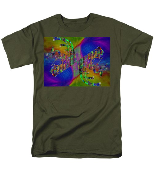 Men's T-Shirt  (Regular Fit) featuring the digital art Abstract Cubed 368 by Tim Allen