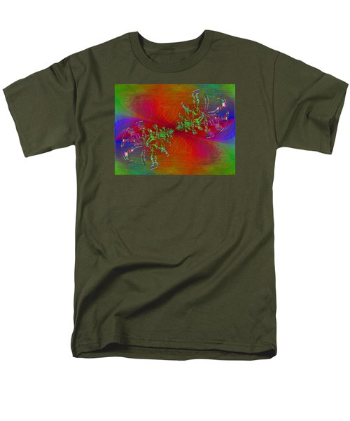 Men's T-Shirt  (Regular Fit) featuring the digital art Abstract Cubed 371 by Tim Allen