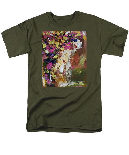 Abstract Floral Study Men's T-Shirt  (Regular Fit)