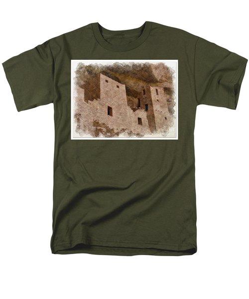 Men's T-Shirt  (Regular Fit) featuring the photograph Abstract Mesa Verde by Debby Pueschel