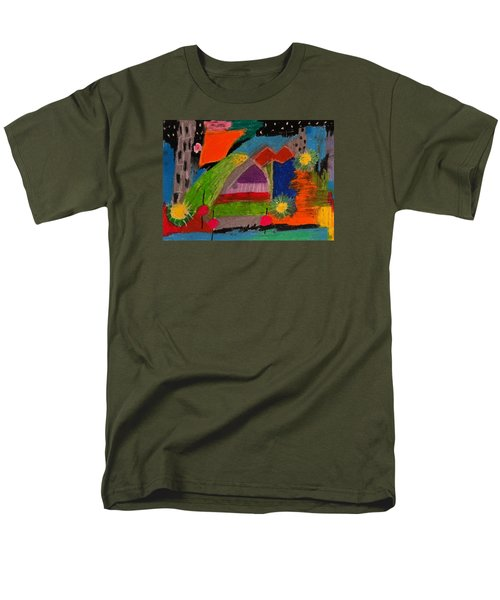 Abstract No. 7 Inner Landscape Men's T-Shirt  (Regular Fit) by Maria  Disley