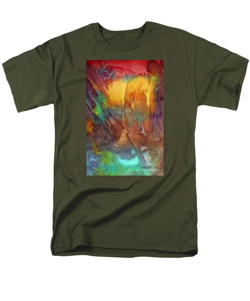 Men's T-Shirt  (Regular Fit) featuring the painting Abstract Reflection by Allison Ashton