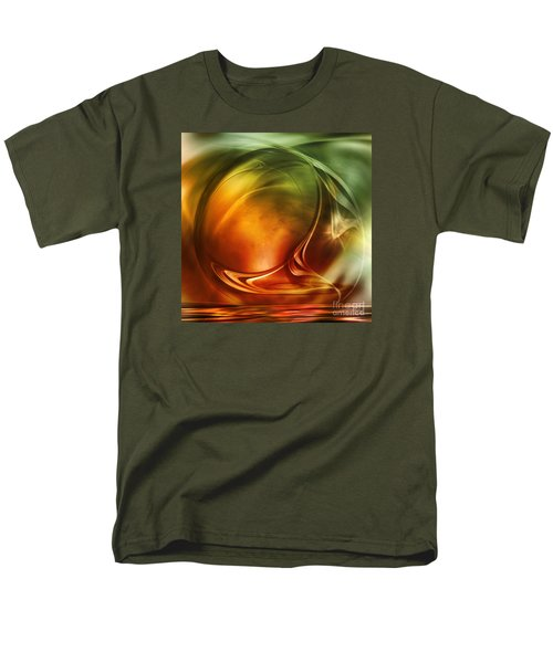 Men's T-Shirt  (Regular Fit) featuring the digital art Abstract Whiskey by Johnny Hildingsson