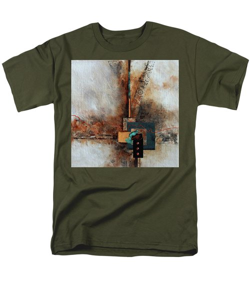 Men's T-Shirt  (Regular Fit) featuring the painting Abstract With Stud Edge by Joanne Smoley
