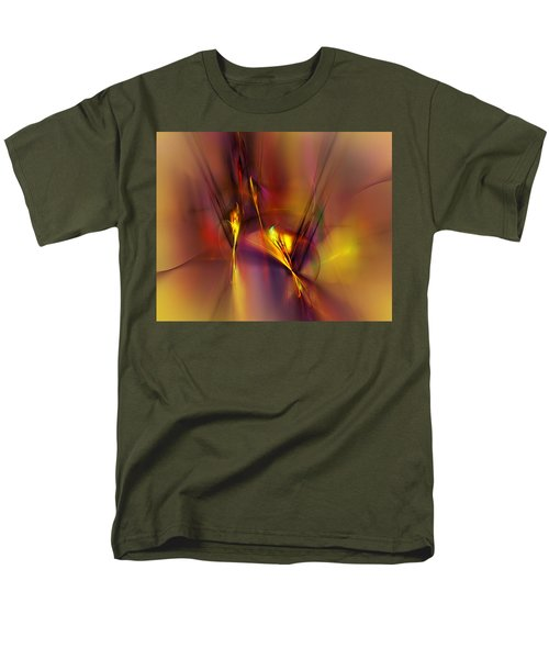 Abstracts Gold And Red 060512 Men's T-Shirt  (Regular Fit)