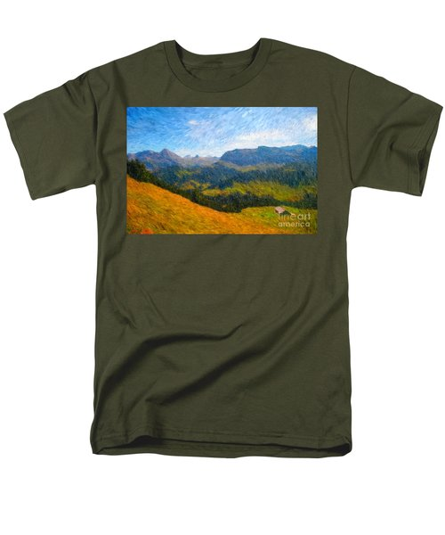 Adelboden Countryside Men's T-Shirt  (Regular Fit)