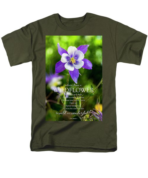 Advice From A Wildflower Columbine Men's T-Shirt  (Regular Fit) by Teri Virbickis