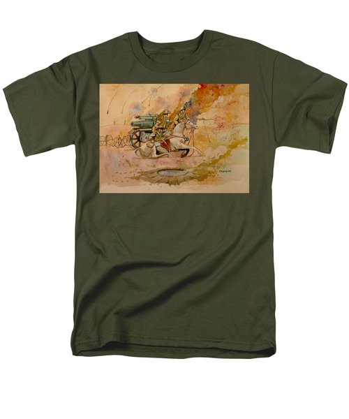 Men's T-Shirt  (Regular Fit) featuring the painting After The Charge by Ray Agius