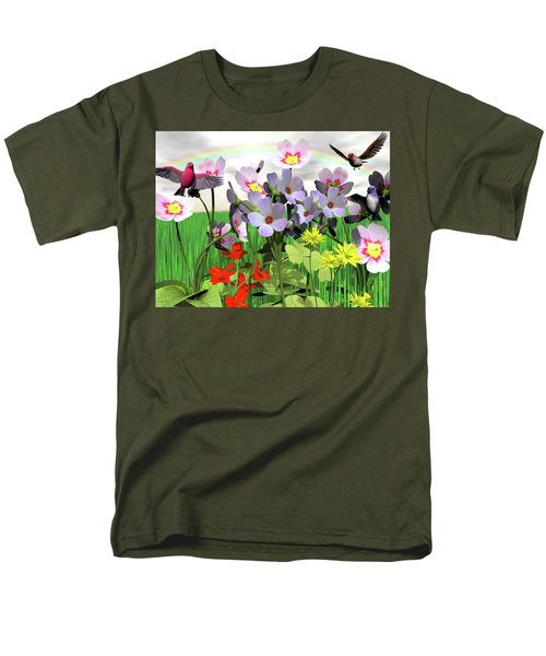 After The Rain Comes The Rainbow Men's T-Shirt  (Regular Fit) by Michele Wilson