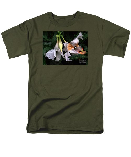 After The Rain - Flower Photography Men's T-Shirt  (Regular Fit) by Miriam Danar