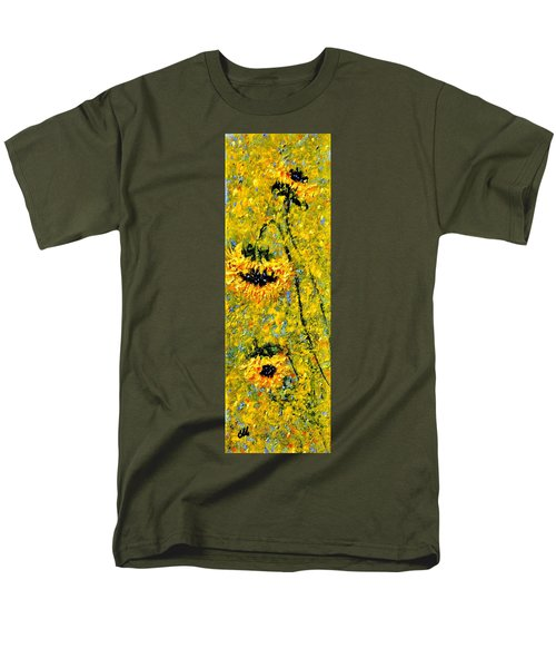 Men's T-Shirt  (Regular Fit) featuring the painting After The Rain  Vi by Cristina Mihailescu