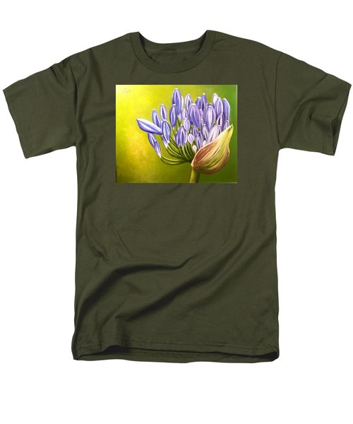 Men's T-Shirt  (Regular Fit) featuring the painting Agapanthos by Natalia Tejera