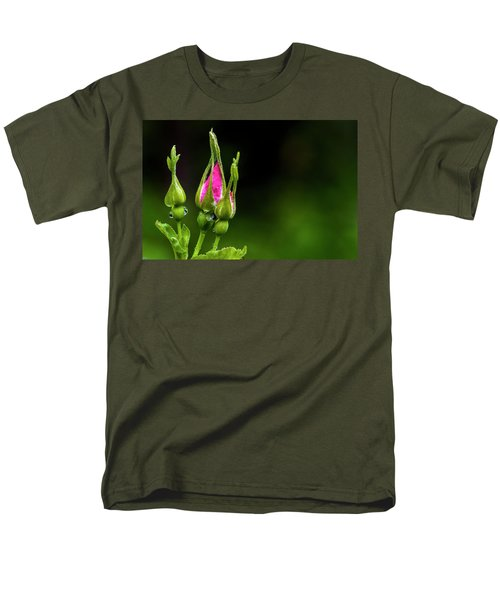 Men's T-Shirt  (Regular Fit) featuring the photograph Alberta Rose Buds by Darcy Michaelchuk
