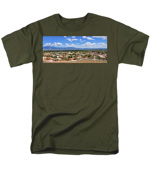 Men's T-Shirt  (Regular Fit) featuring the photograph Albuquerque West Side by Gina Savage