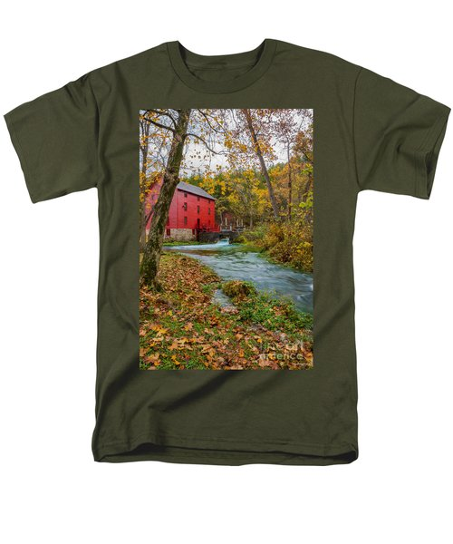 Alley Mill In Autumn Men's T-Shirt  (Regular Fit) by Jennifer White