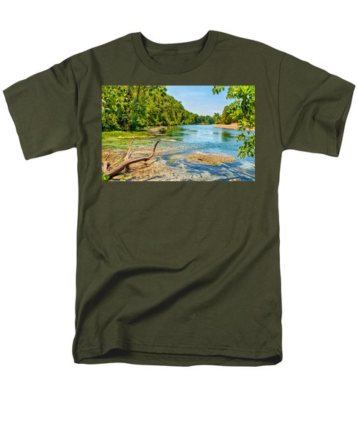Men's T-Shirt  (Regular Fit) featuring the photograph Alley Springs Scenic Bend by John M Bailey
