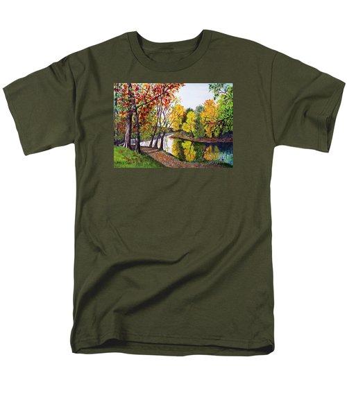 Along The Blanchard Men's T-Shirt  (Regular Fit) by Nancy Cupp