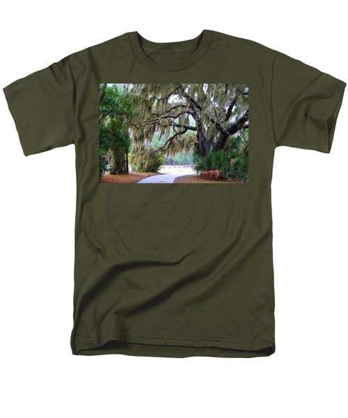 Men's T-Shirt  (Regular Fit) featuring the photograph Along The Path by Kathryn Meyer