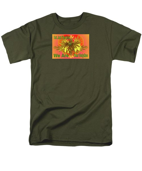 Men's T-Shirt  (Regular Fit) featuring the mixed media Alternative Medicine by Mike Breau