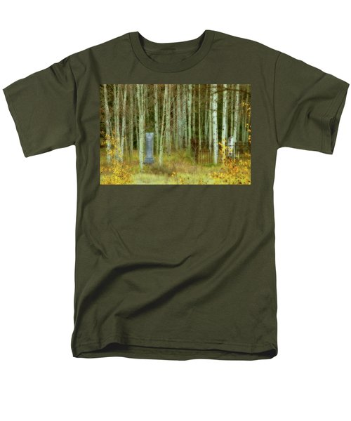 Men's T-Shirt  (Regular Fit) featuring the photograph Alvarado Cemetery 41 by Marie Leslie