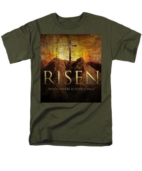 Always Risen Men's T-Shirt  (Regular Fit) by David Norman