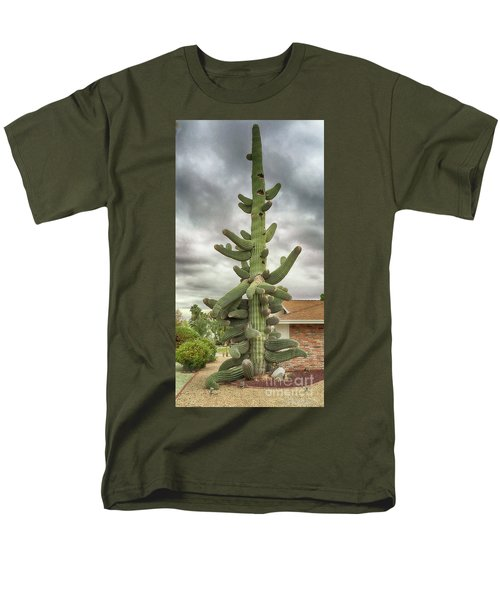 Men's T-Shirt  (Regular Fit) featuring the photograph Arizona Christmas Tree by Anne Rodkin