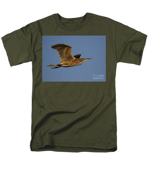 American Bittern Flight Men's T-Shirt  (Regular Fit) by Myrna Bradshaw