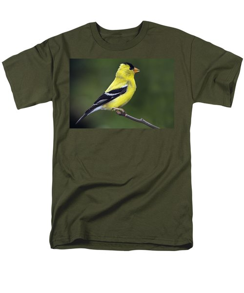 Men's T-Shirt  (Regular Fit) featuring the photograph American Golden Finch by William Lee