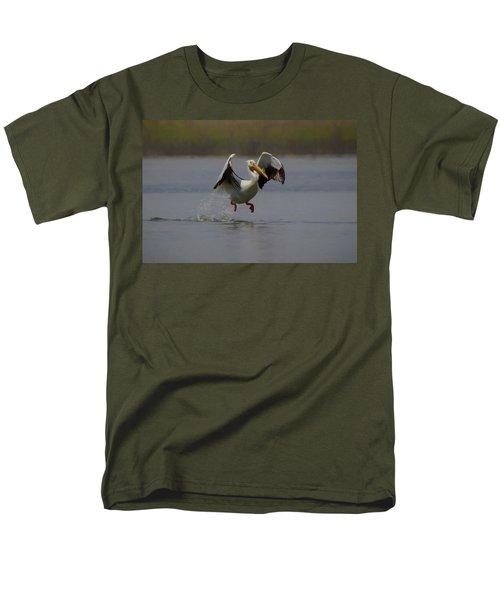 American White Pelican Da 2 Men's T-Shirt  (Regular Fit) by Ernie Echols
