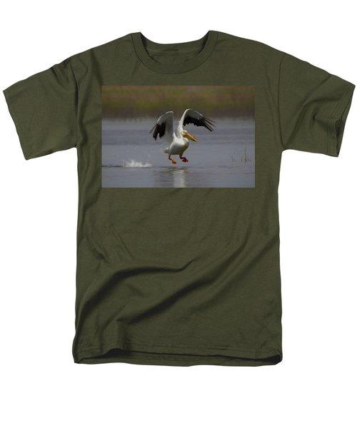American White Pelican Da 4 Men's T-Shirt  (Regular Fit) by Ernie Echols
