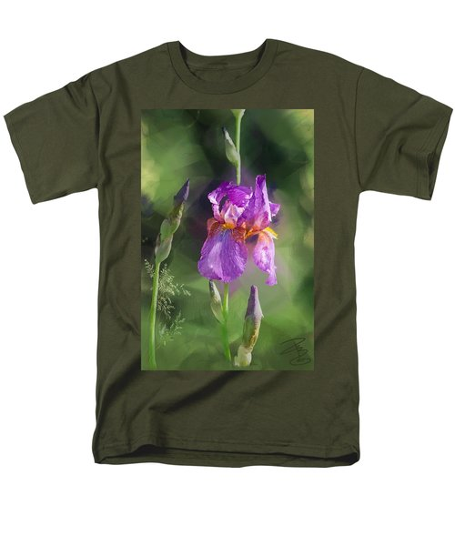 Amethyst Iris 2 Men's T-Shirt  (Regular Fit) by Debra Baldwin