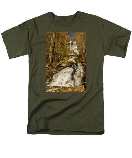 Men's T-Shirt  (Regular Fit) featuring the photograph Amicola Falls Gushing by Barbara Bowen