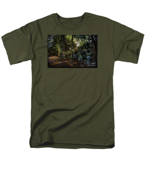 Men's T-Shirt  (Regular Fit) featuring the photograph Among The Rocks by Ken Frischkorn