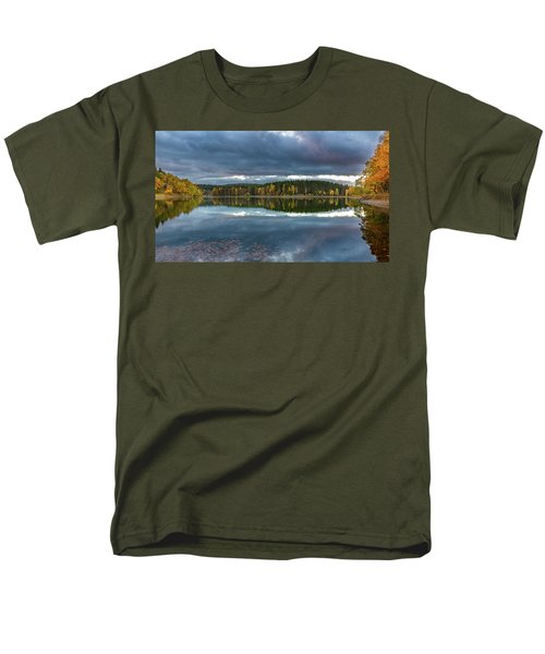 An Autumn Evening At The Lake Men's T-Shirt  (Regular Fit) by Andreas Levi