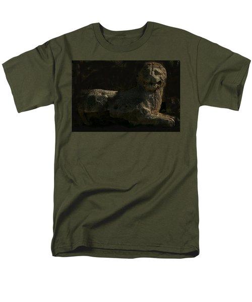 Men's T-Shirt  (Regular Fit) featuring the photograph Ancient Lion - Nocisia  by Jim Vance