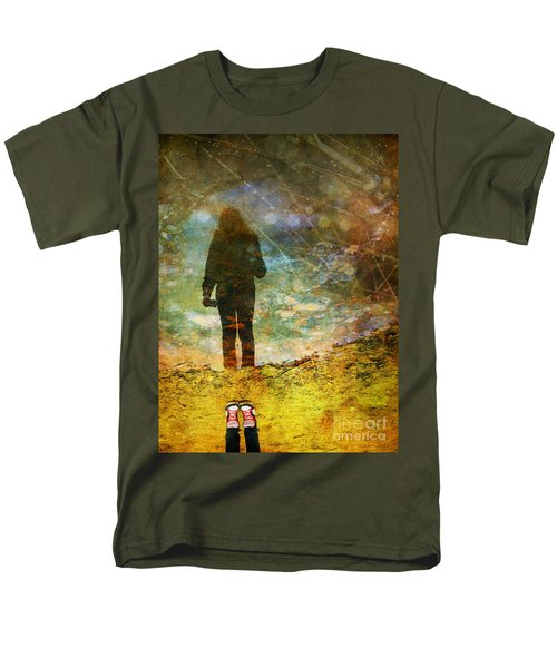 And Then He Turned Her World Upside Down Men's T-Shirt  (Regular Fit) by Tara Turner