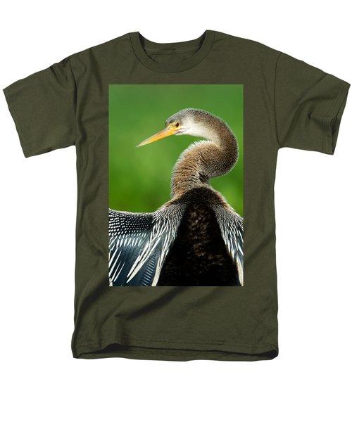 Anhinga Anhinga Anhinga, Pantanal Men's T-Shirt  (Regular Fit) by Panoramic Images