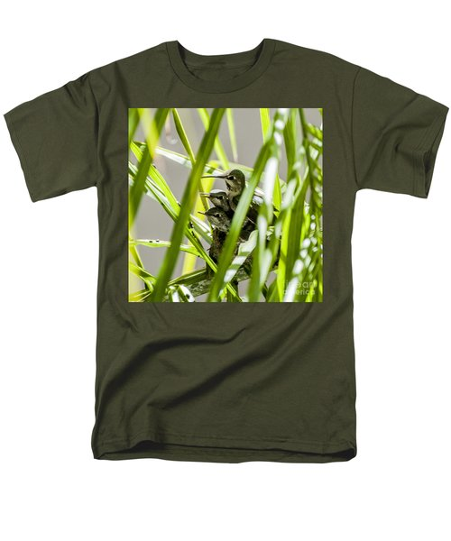 Anna Hummer On Nest Men's T-Shirt  (Regular Fit) by Daniel Hebard
