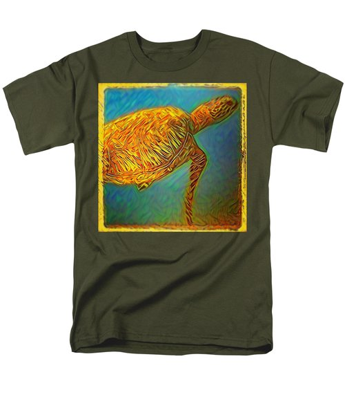 Men's T-Shirt  (Regular Fit) featuring the digital art Annabelle The Turtle by Erika Swartzkopf