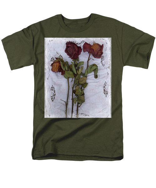 Men's T-Shirt  (Regular Fit) featuring the digital art Anniversary Roses by Alexis Rotella