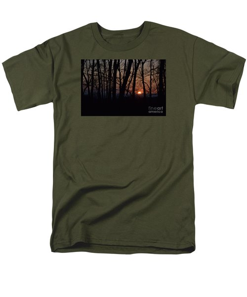 Another Sunrise In The Woods Men's T-Shirt  (Regular Fit) by Mark McReynolds