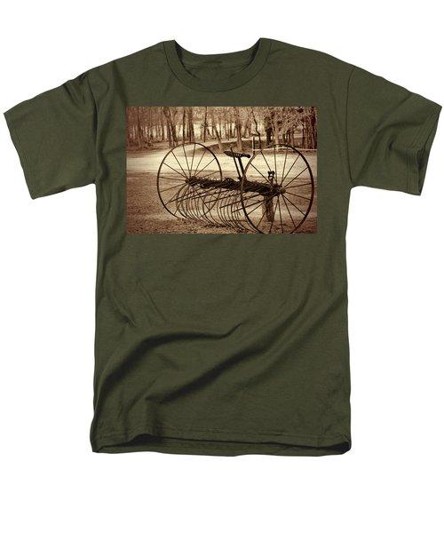 Antique Farm Rake In Sepia Men's T-Shirt  (Regular Fit) by Kathy Clark